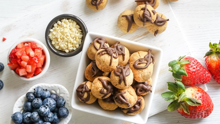 Chocolate Biscotti Balls (Dairy & Gluten Free)