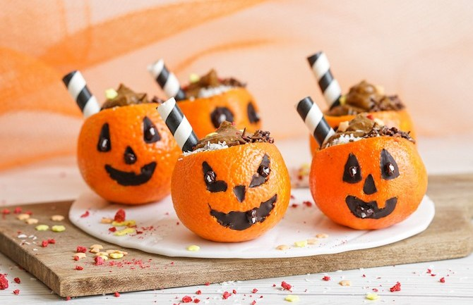 Paleo Halloween Mandarin Cups (GF, DF, *AIP)