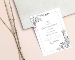 How I made my own wedding invites and saved