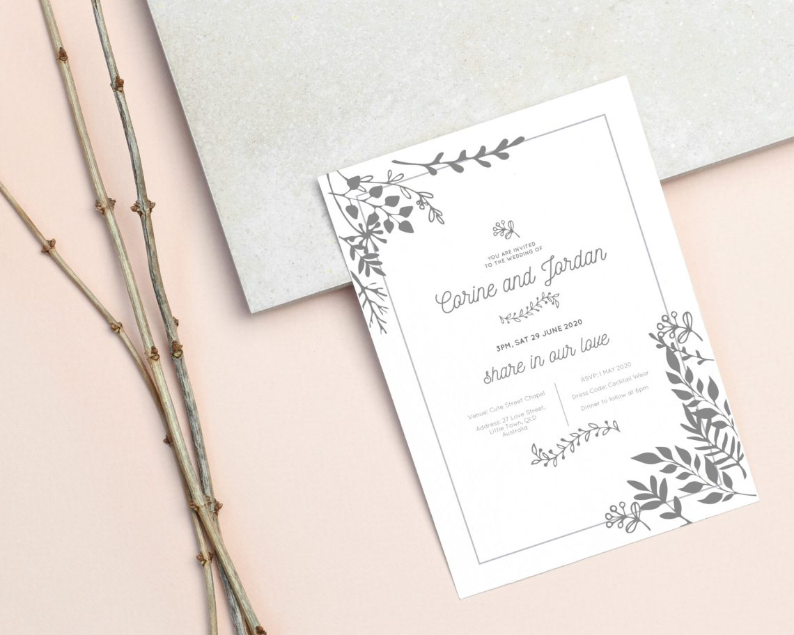 Wedding Invitation || Digital Download