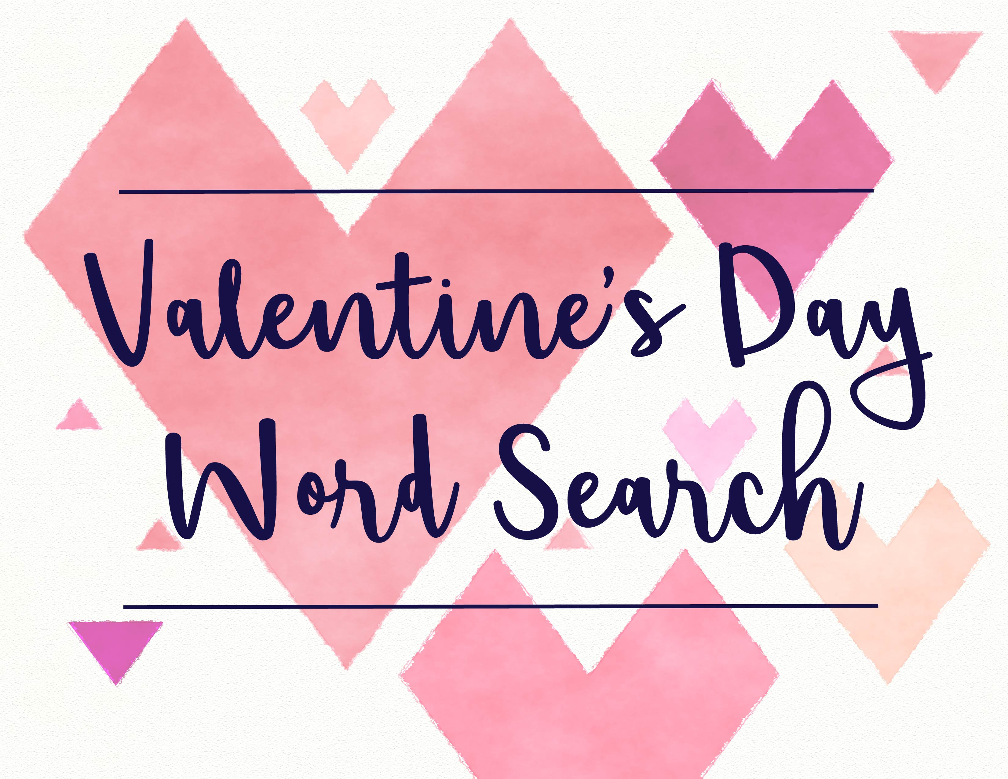 Valentine S Day Word Search Printable
