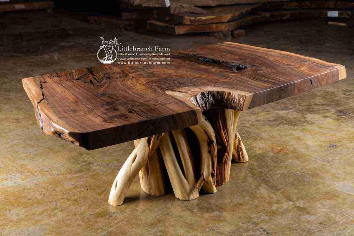 rustic claro walnut wood coffee table