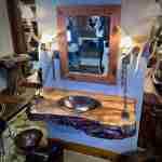 Wood Slab Floating Vanity Wood Vanity Littlebranch Farm