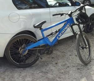 "Blue ""Orange Patriot"" Bike"