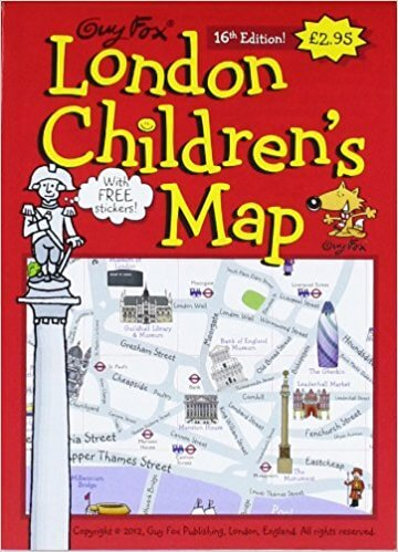 London Childrens Map | Best Activity Books for Kids visiting London