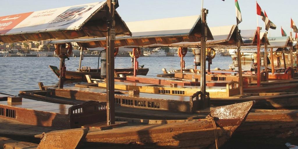 Dubai Abras on Dubai Creek   Little City Trips guide how to get around Dubai with Kids