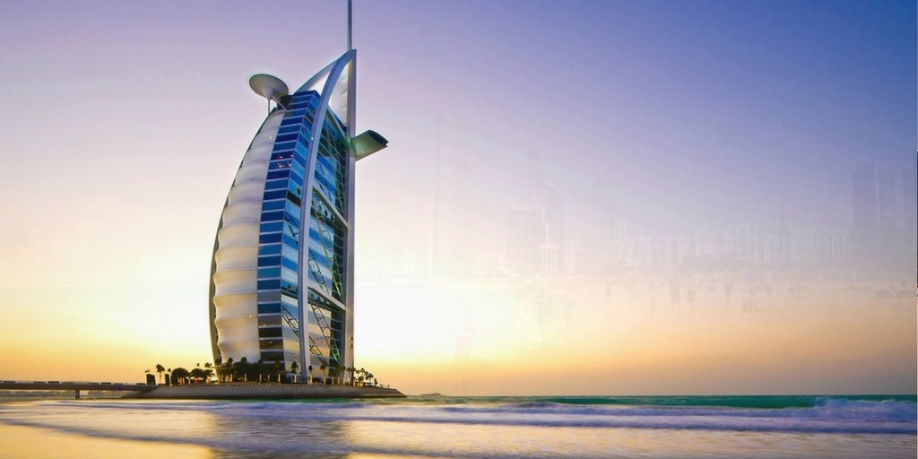 Dubai sunset beach with view of Burj al Arab | Things to do in Dubai with Kids Little City Trips
