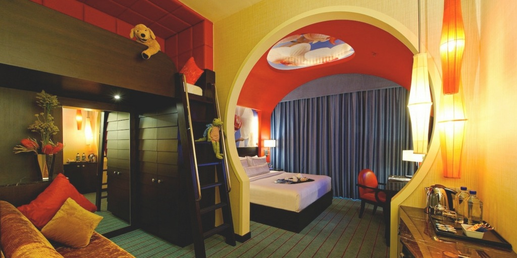 Festive Hotel Family Suite Singapore - one of our top family city hotel picks | What Makes a Hotel Family Friendly? City Experts decide at Little City Trips