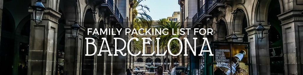 Barcelona packing list