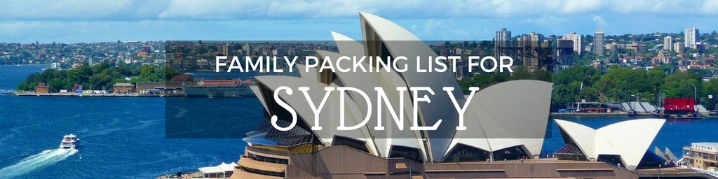Sydney Australia Packing List