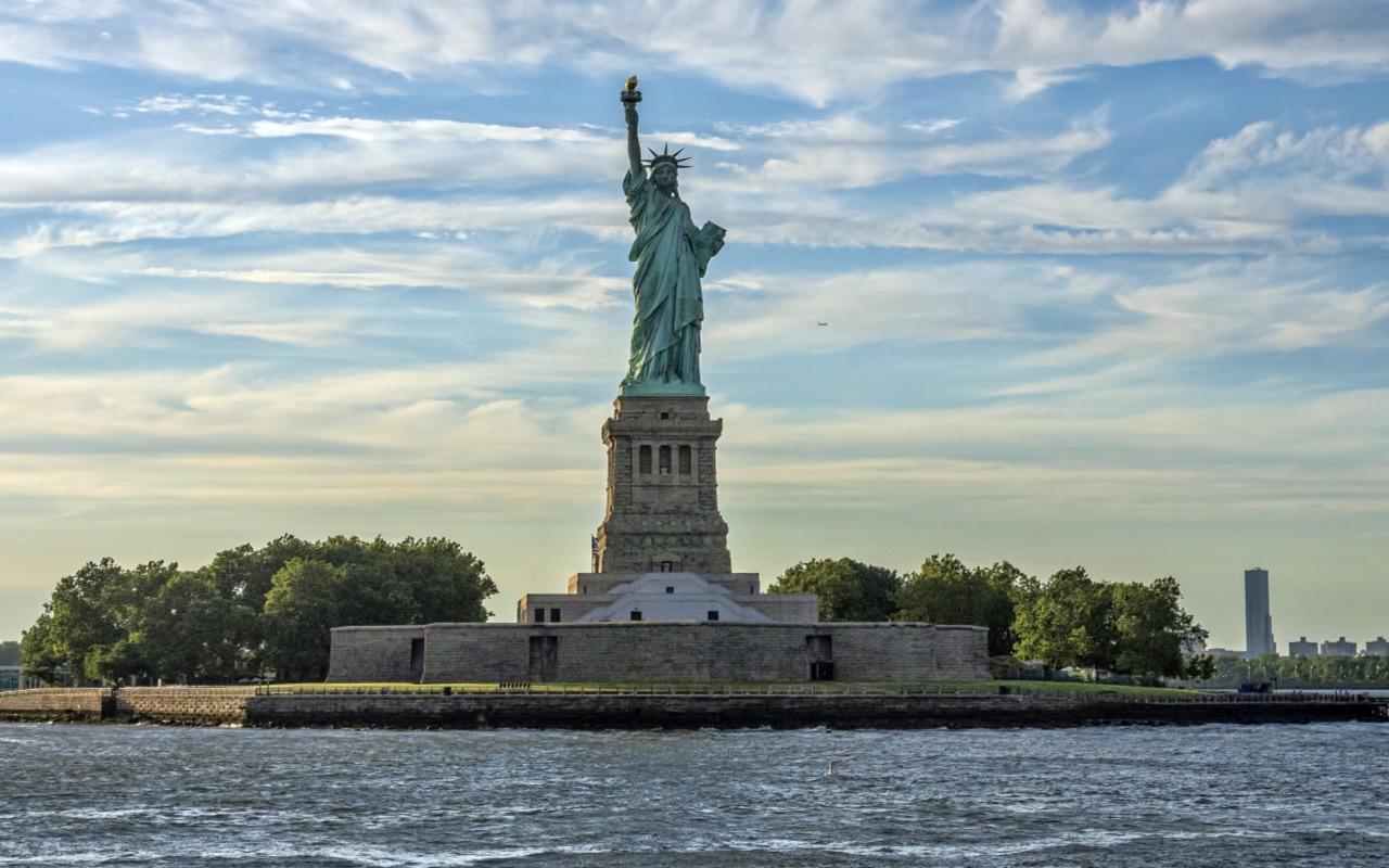 New York City Ellis Island and Statue of Liberty