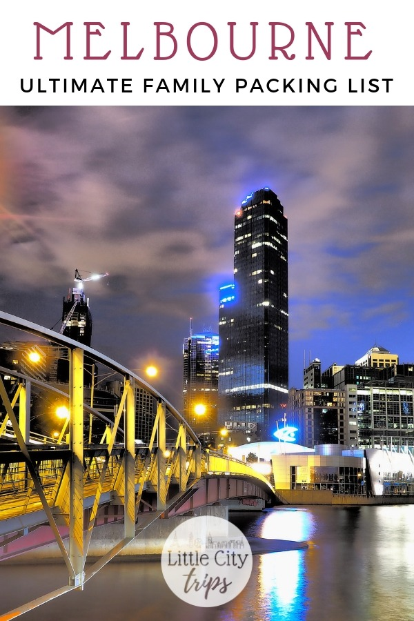 Travelling to Melbourne? City travel experts Little City Trips talk you through all the most important items you need to pack for Melbourne. Print off our Melbourne packing list for your next city trip.