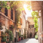 beautiful street in Rome - best areas to stay in Rome with kids