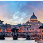 St Peters at dusk lit up - a guide to when best to visit Rome
