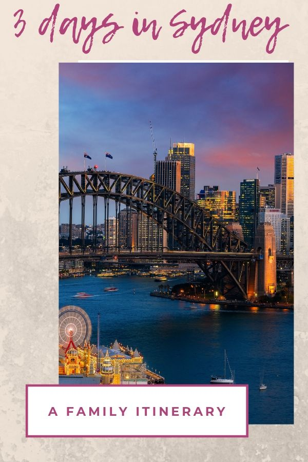 3 days in Sydney with Kids - A family itinerary booklet cover