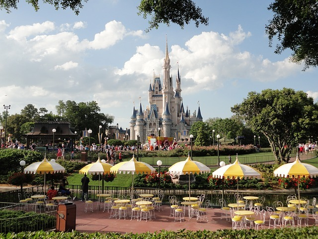 View of Disney castle