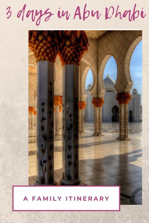 3 days in Abu Dhabi