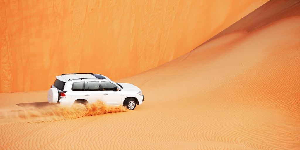 4wd in Dubai Desert Sand