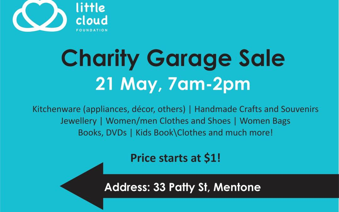 Charity Garage Sale this Saturday in Melbourne! Come and Support Us!