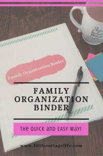 Click here for a FREE Family Organization Binder!