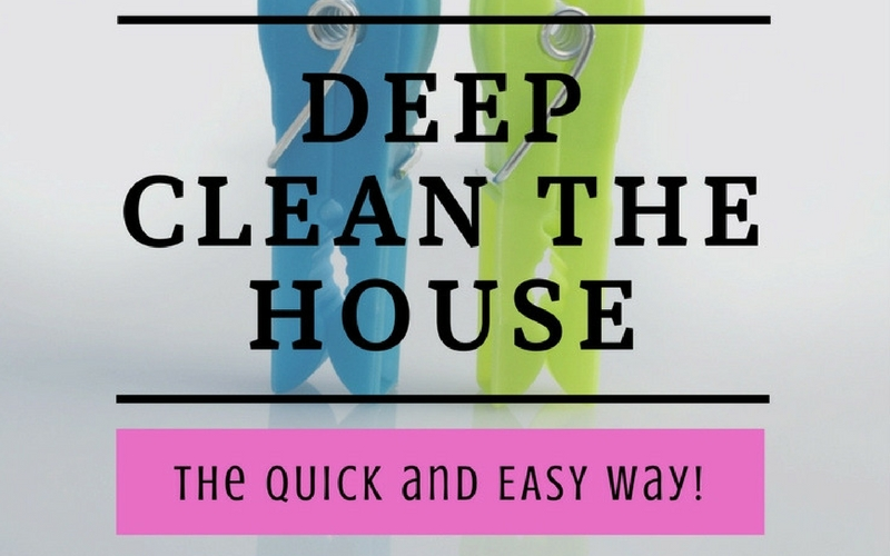 soliloquy deep clean the house