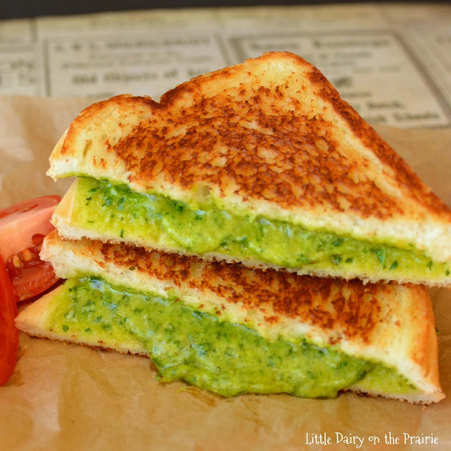 Grilled Cheese Amp Spinach Sandwich Little Dairy On The