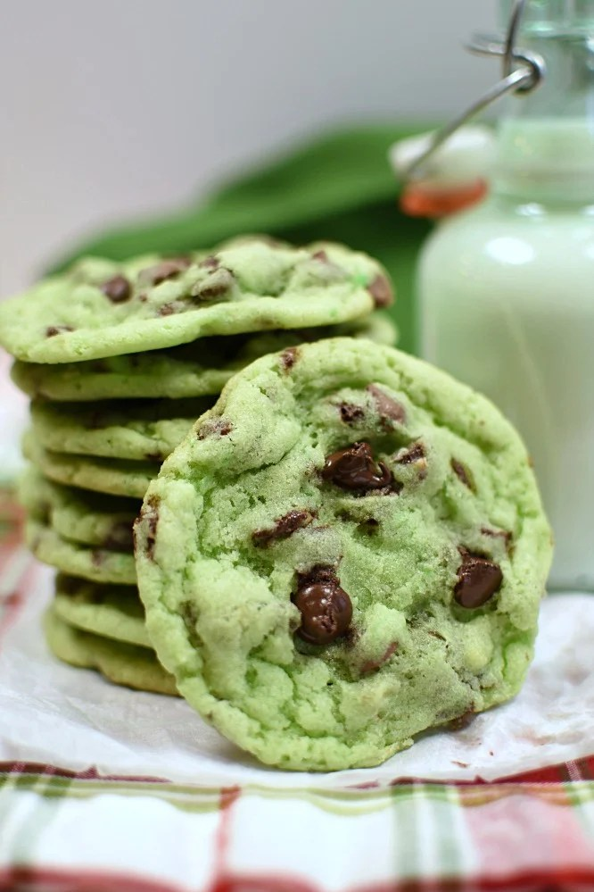 Mint Chip Sugar Cookies are some of my favorite cookies