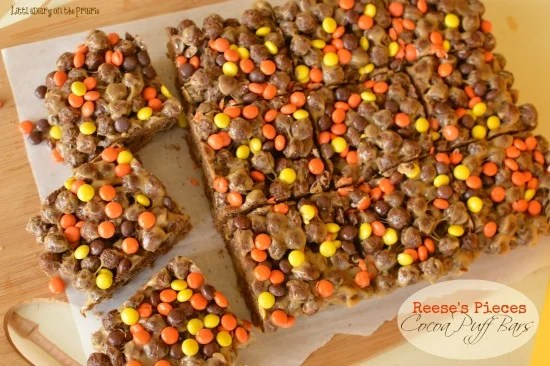 Reese's Pieces Cocoa Puff Bars Little Dairy on the Prairie