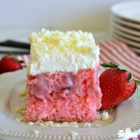 My Favorite Strawberry Poke Cake