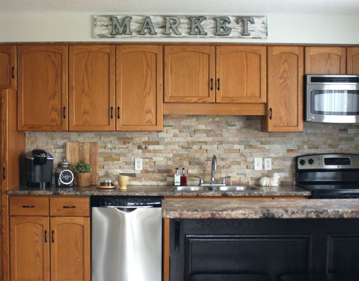 Honey Oak Kitchen Before