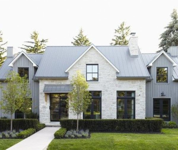 Contemporary + Modern Farmhouse Exteriors