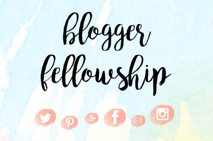 Blogger Fellowship Facebook Group
