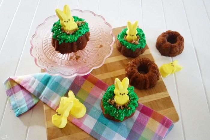 Bundt cakes, recipe, dessert, Easter, Spring, Peeps
