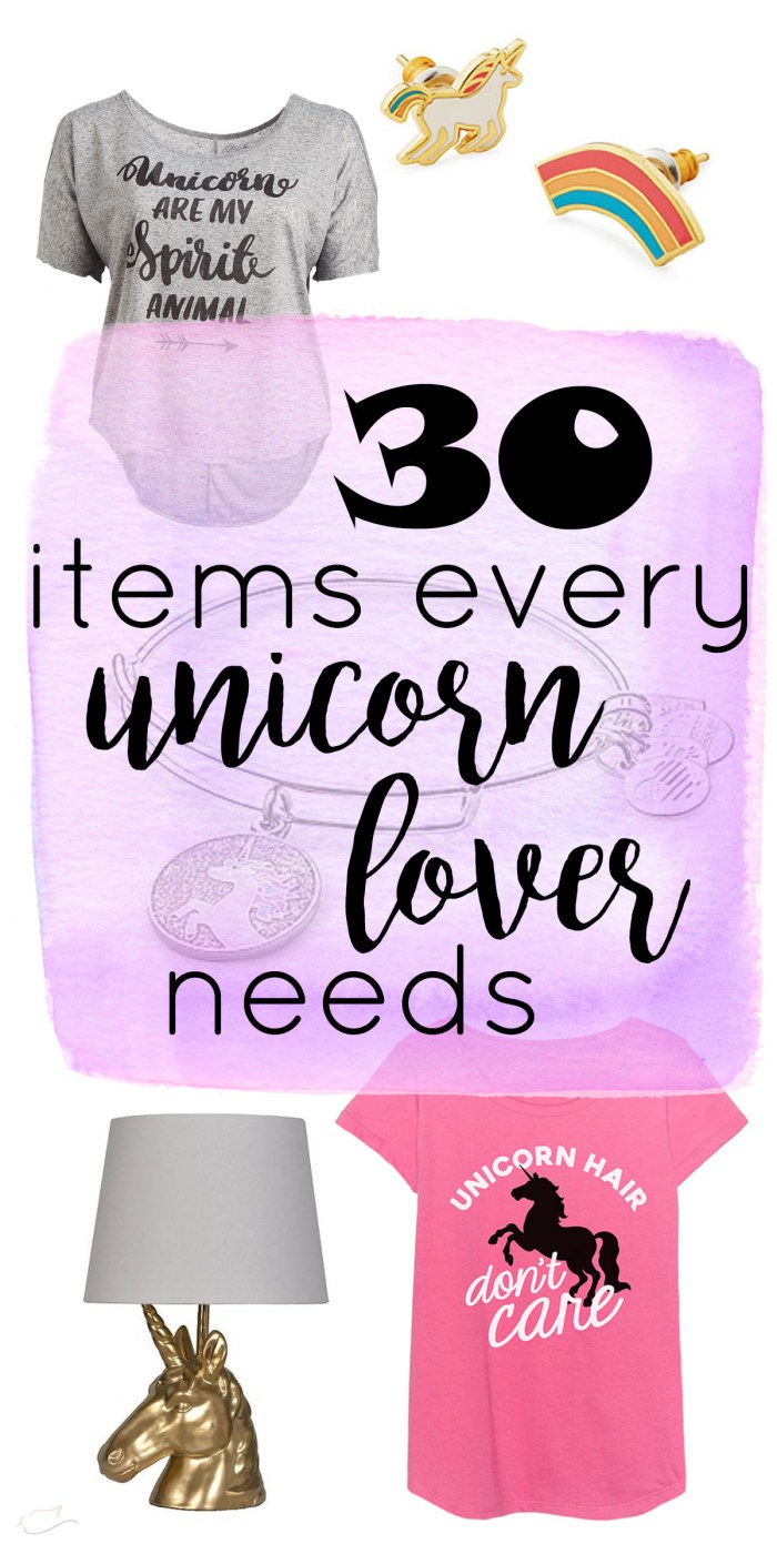30 items every unicorn lover needs