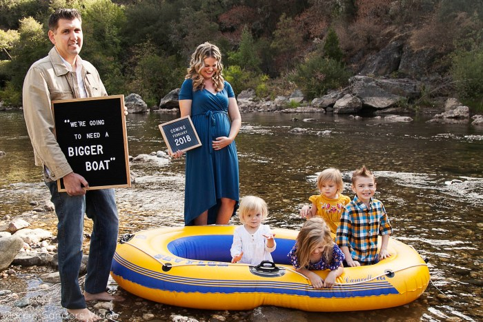 Fall family photos, river location, northern california photographer, blue and yellow clothes, PinkBlush