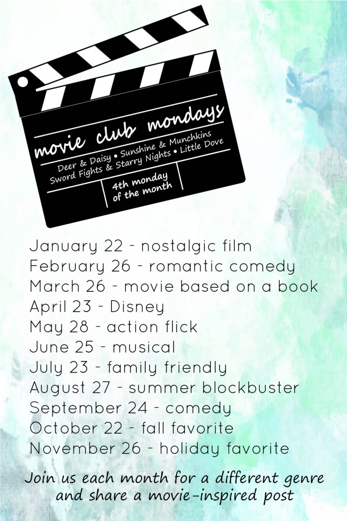 Justine Young lifestyle blogger shares a new linkup for 2018 called Movie Club Mondays.