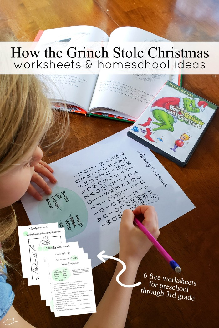 How The Grinch Stole Christmas Worksheets Little Dove Blog