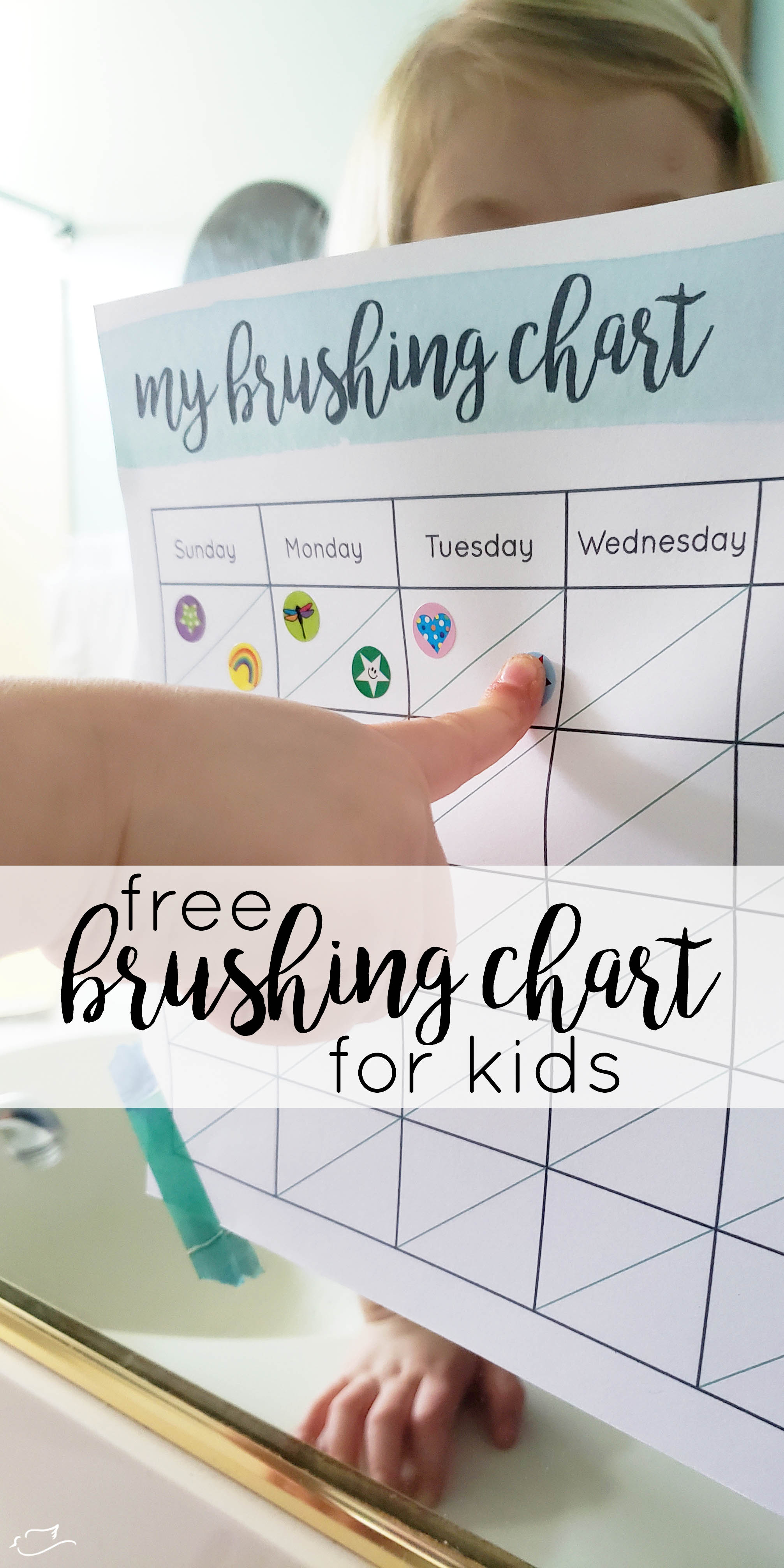 photo regarding Printable Tooth Brushing Charts called style Excellent behavior with a enamel brushing chart - Small Dove Blog site