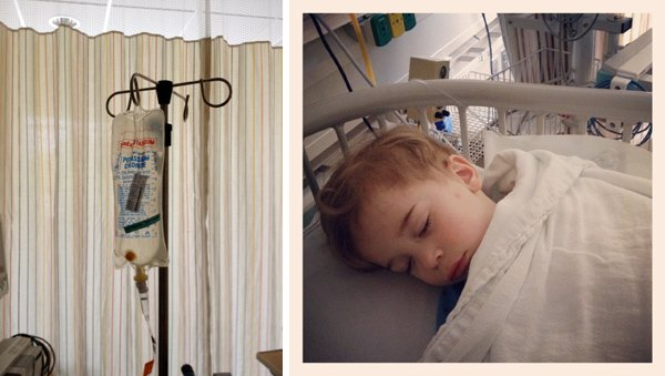 Recovering from g-tube placement surgery at Seattle Children's Hosptial.