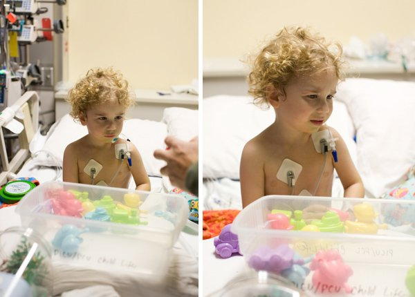 Apollo recovering from double aortic arch division in PICU