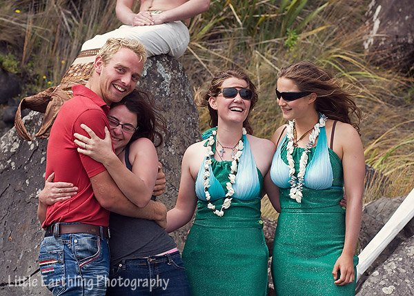 Outrageous proposal in New Zealand with mermaids on the beach.