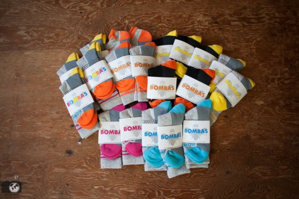a variety of Bombas socks