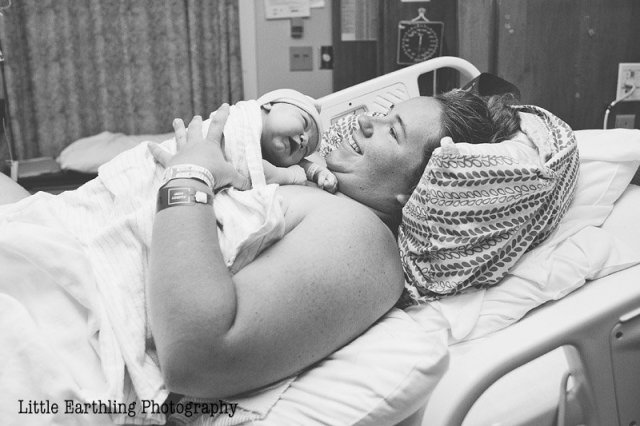 mom holding newborn after VBAC