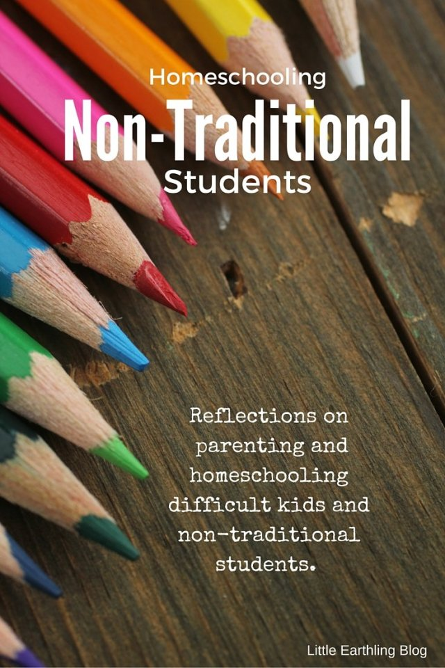 Reflections on homeschooling difficult kids and non-traditional students.