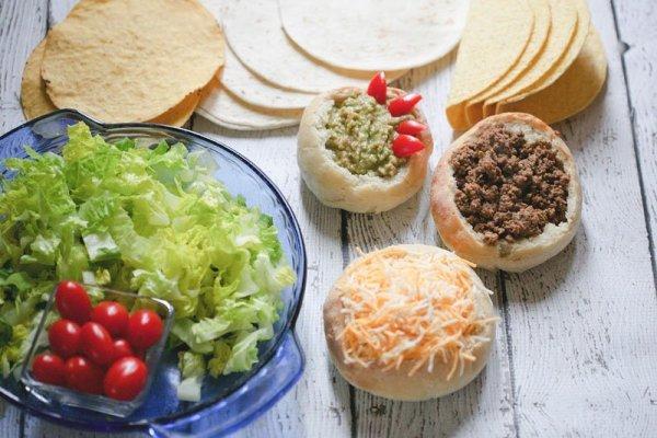 Sourdough bowls make a fun, festive addition to Taco Tuesday!
