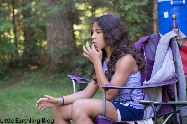 No family camping trip would be complete without roasting marshmallows.