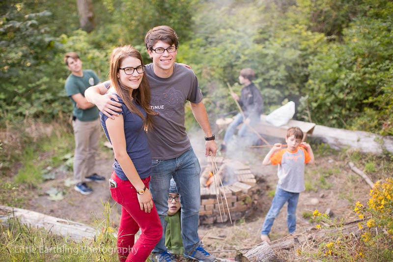 Celebrating Judah's birthday with a summer bonfire.