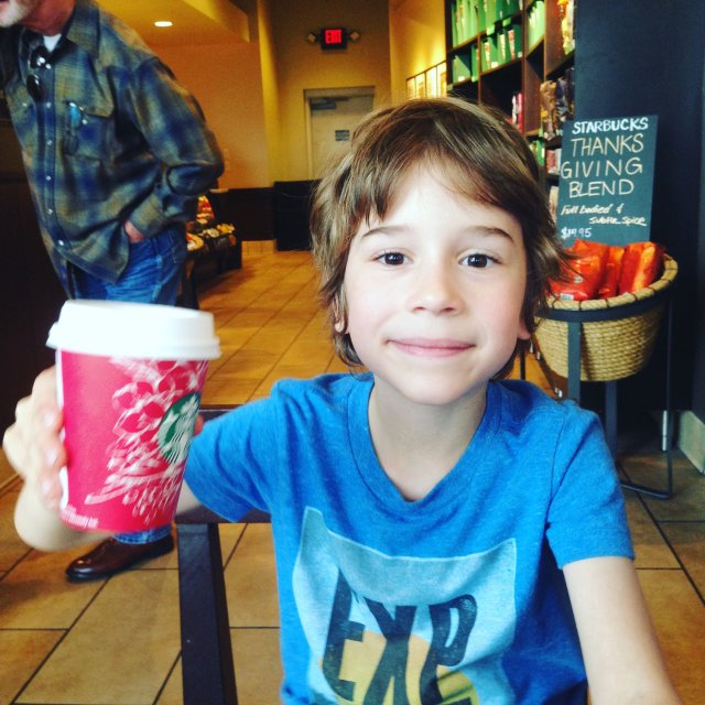 A short mocha an vicodin to help with him his dressing change after his staph infection.