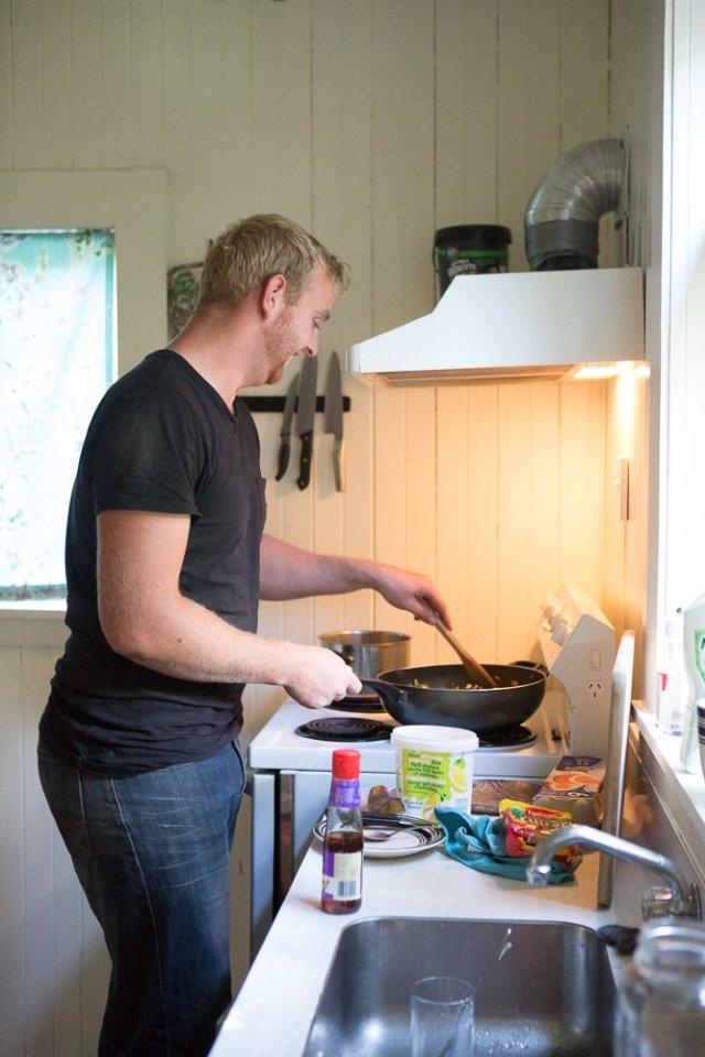 Ben makes stir fry!