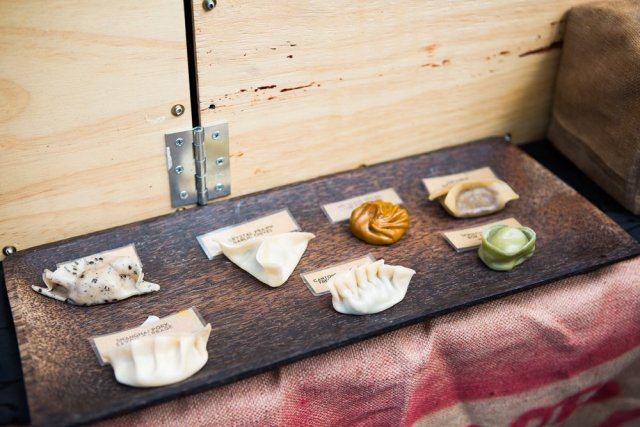 A delicious variety of dumplings from the House of Dumplings.